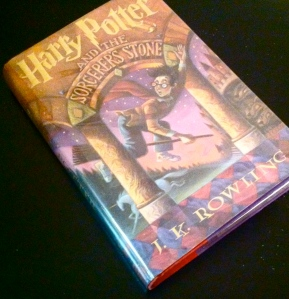 My new copy of the first Harry Potter book. I was very hard on my first two copies.