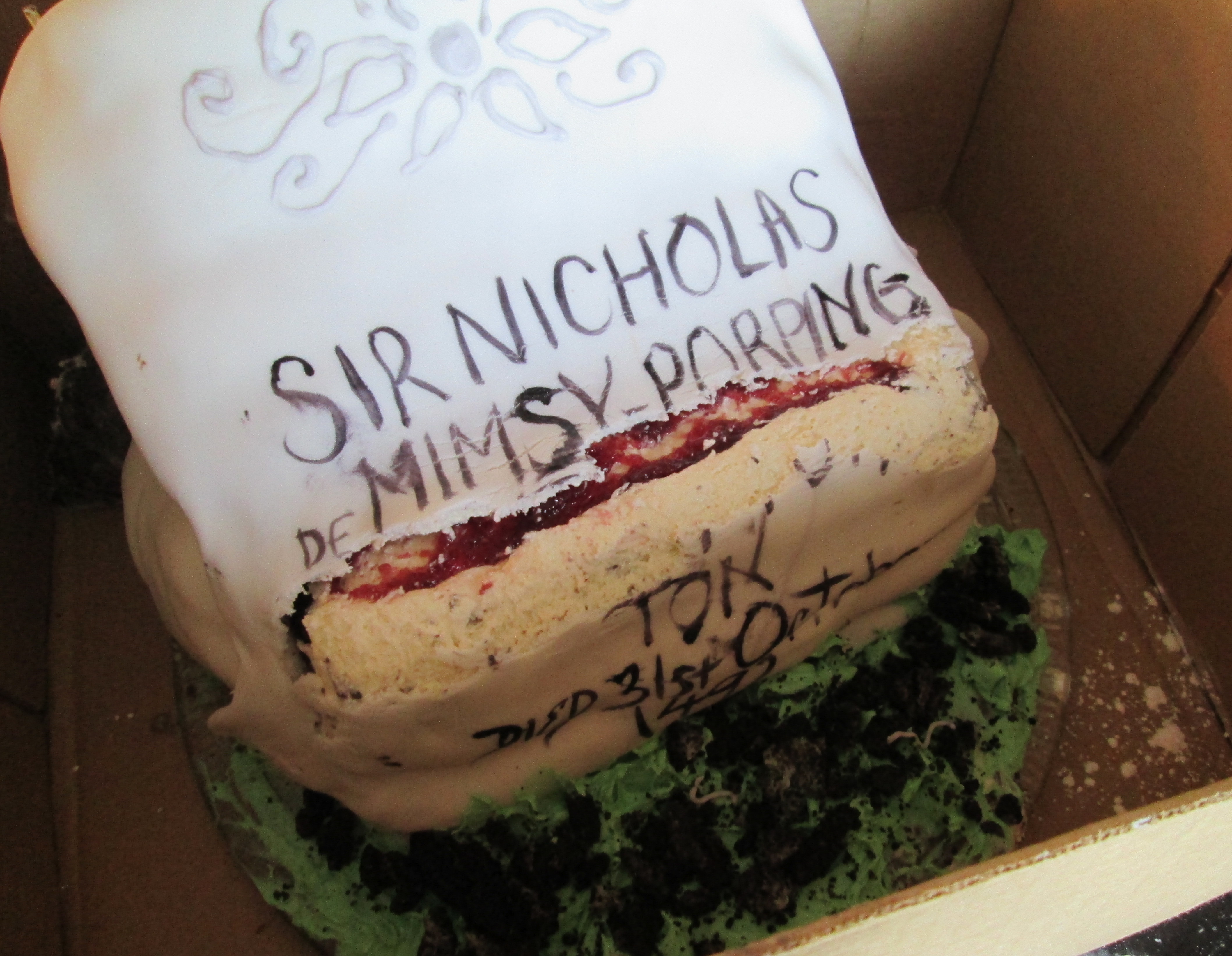 Baking For Bookworms The Death Day Cake From Harry Potter And The