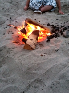 campfire at Seaside